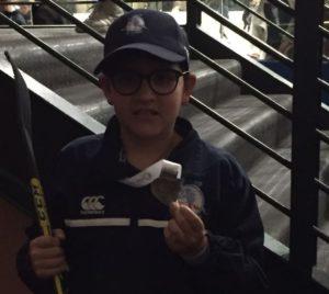 Raphi Kaempf, Grade 4M, Wins Silver Medal In Ice Hockey Tournament