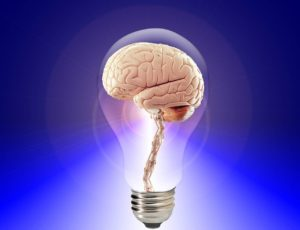 Dyscalculia - lightbulb with brain in it