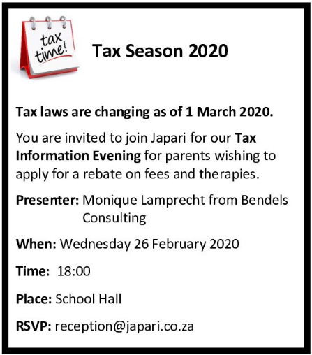 Tax Information Evening