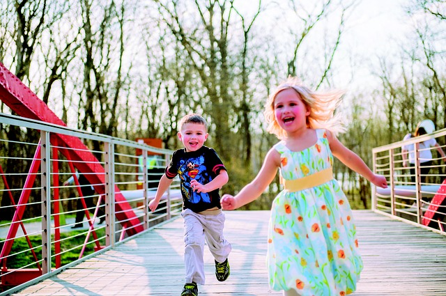 Attention Deficit Hyperactivity Disorder Boy and girl running